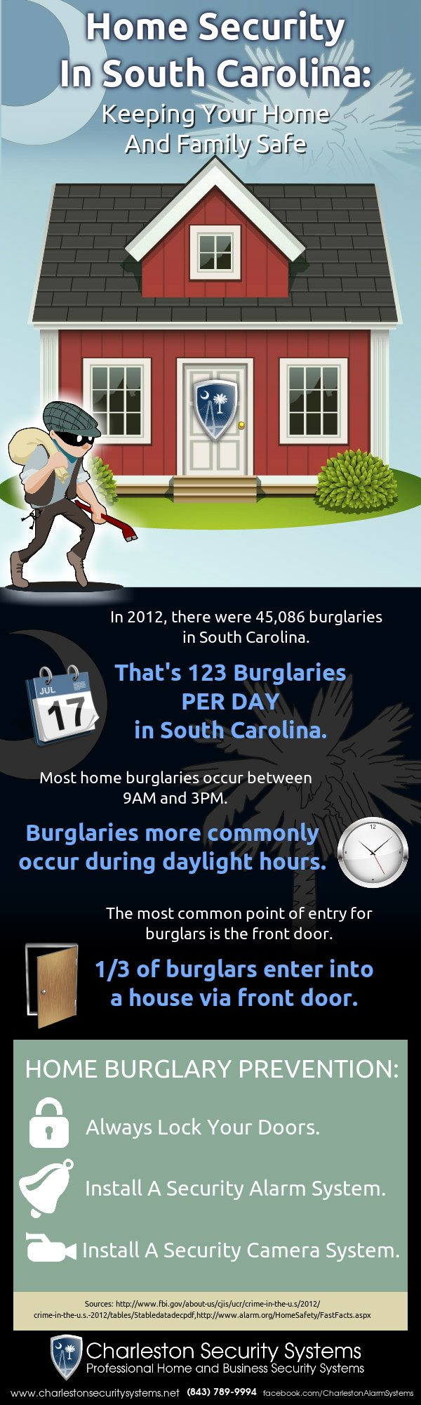 Home Security Charleston Infographic